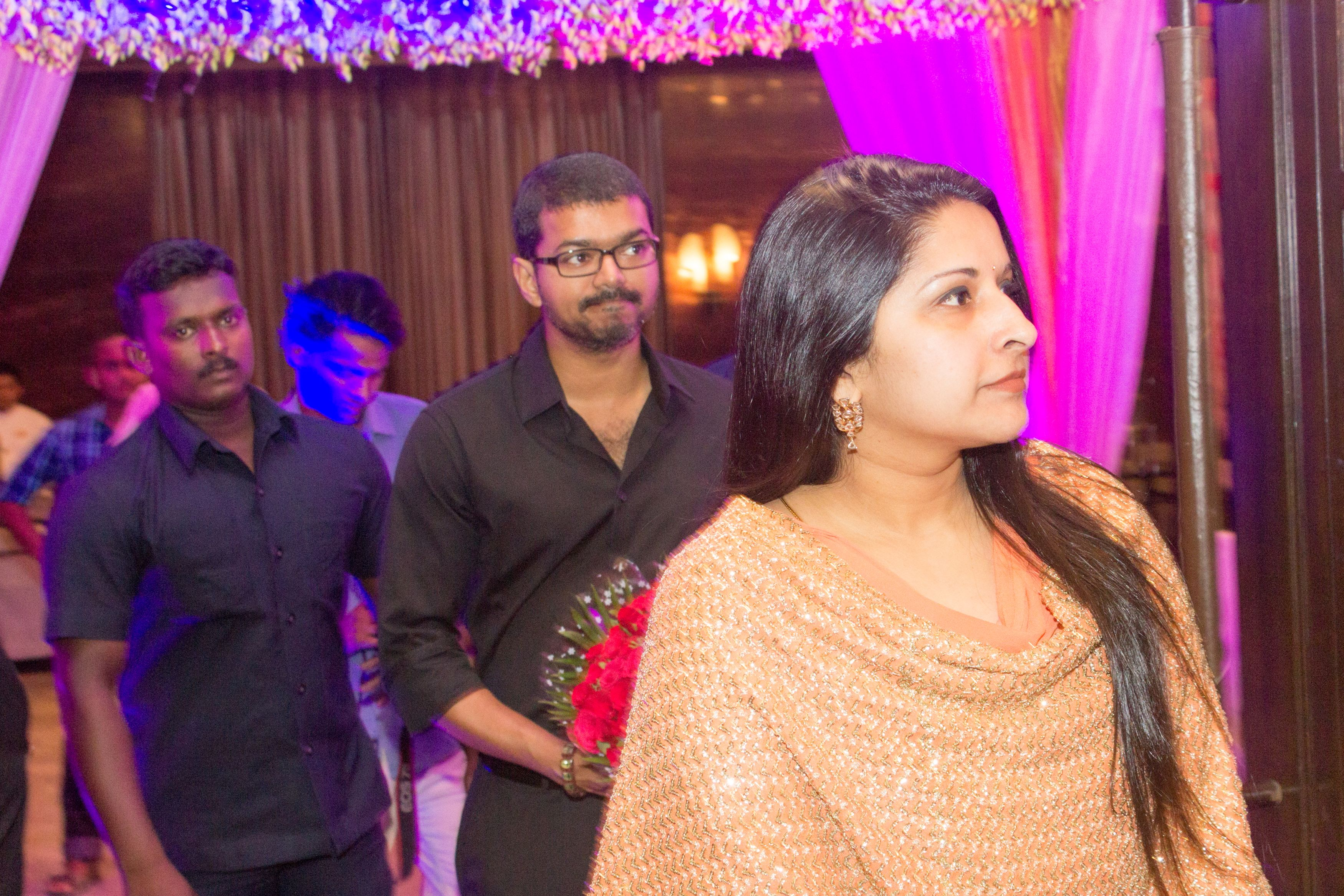 Vijay Attends Jothiram Pavithra Engagement Images-Andhravilas-